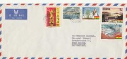 LETTERA  GHANA CON COMMEMORATIVI (LN669 - Ghana (1957-...)