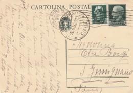 INTERO POSTALE 1936 CENT.15+15 TIMBRO GIMIGNANO SIENA (LN824 - 1900-44 Vittorio Emanuele III