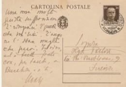 INTERO POSTALE 1938 CENT.30 TIMBRO GRADISCA D'ISONZO GORIZIA (LN860 - Interi Postali