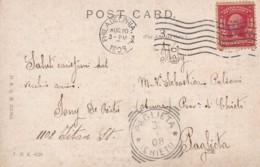 CARTOLINA 1908 USA 2 CENTS TIMBRI PHILADELFIA PAGLIETA CHIETI (LN866 - Storia Postale