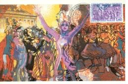 CM-Carte Maximum Card # France-1982 # Energie #éclairage Public à L´électricité,Elektrizität ,electricity#Grenoble - 1980-89