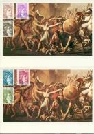 CM-Carte Maximum Card # France-1981 # Timbres Courants -Type Sabine ( 6 Valeurs) 2 CM #Paris - Maximumkaarten