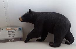 Figurine, Animal Sauvage, Ours Noir - Wild Safari - Black Bear - Oso Negro - Longueur 11 Cm - Figurillas