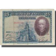 Billet, Espagne, 25 Pesetas, 1928, 1928-08-15, KM:74a, TB - 1-2-5-25 Pesetas