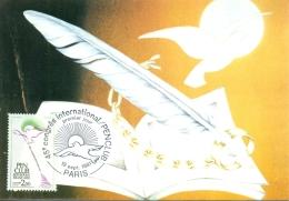 CM-Carte Maximum Card # France-1981 #Pen Club, écrivains , Schriftsteller-Verband  # Oiseau,bird,vogel  # Paris - 1980-89