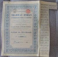 BELGICA ACCION DE TRAMWAY D'ORAN TRANVIA 1906 - Ferrocarril & Tranvías