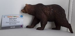 Figurine, Animal Sauvage, Ours Gris - Grizzli Bear - Wild Safari -  - Oso Grizzli - Long 11 Cm, Haut 7 Cm - Figurines