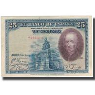 Billet, Espagne, 25 Pesetas, 1928, 1928-08-15, KM:74a, TTB - [ 1] …-1931 : Eerste Biljeten (Banco De España)