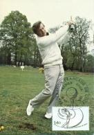 CM-Carte Maximum Card # 1980-France # Sport # Golf  # Paris - Maximum Cards