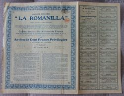 BELGICA ACCION DE LA ROMANILLA MINA DE PLOMO DE CIUDAD REAL MINNING - Mineral
