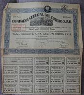 BARCELONA ACCION DE LA COMPAÑIA GENERAL DEL CORCHO SA 1929 - Agricultura