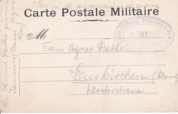Carte De Franchise  Militaire Cebsure Dépot D'officiers Prisonniers De Sisteron Et De Jausiers (au Dos). Raths - Marcophilie (Lettres)