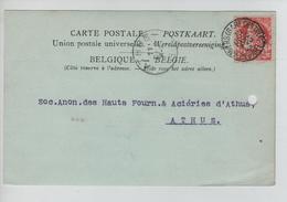 AP2103/ TP 74 GB Perforé S M S/CP Société Maritime & Commerciale C.Anvers Gare Centrale 10/12/1900 V.Athus - Lochung
