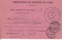 Carte De Franchise  Militaire Avis De Capture Ayant Servi 1918 -RARE - Marcophilie (Lettres)