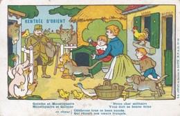 """Carte De Franchise Militaire Arméée D'Orient """"Retour D'Orient"""" Illustration Benjamen Rabier 1918 - Marcophilie (Lettres)"""