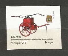 Bombeiros Voluntários De Vila Real De Santo António Algarve Portugal 2009 Selo Personalizado Pompiers Fireman Firefight - Sapeurs-Pompiers