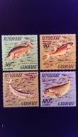 Gabon 1975 Animal Poisson Fish Yvert 347-350 ** MNH - Gabon