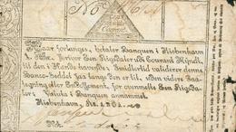 ASSIGNAT D'UN THALER 1801 - COPENHAGUE - Danemark