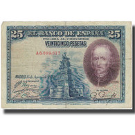 Billet, Espagne, 25 Pesetas, 1928, 1928-08-15, KM:74b, TB+ - 1-2-5-25 Pesetas