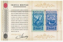 AUSTRALIA 2011 COLONIAL HERITAGE STAMP ON STAMP MINI SHEET MNH SERIES 2 FACE VALUE $4 14934-23 - Stamps On Stamps