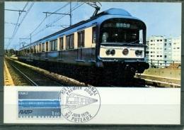 CM-Carte Maximum Card # France-1975 # Transports # Trains #  Metro # Métro Régional RATP # Puteaux - Treinen