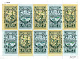 AUSTRALIA 2012 COLONIAL HERITAGE STAMP ON STAMP FULL SHEET OF 10 SERIES # 3 FACE VALUE $ 20 15566-11 - Stamps On Stamps