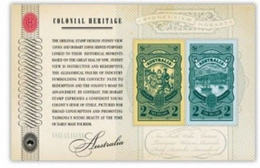 AUSTRALIA 2012 COLONIAL HERITAGE STAMP ON STAMP MINI SHEET MNH SERIES # 3 FACE VALUE $4 15545-12 - Stamps On Stamps