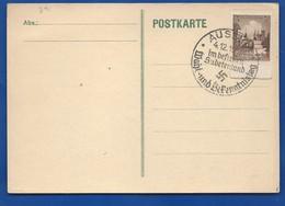 POSTKARTE  à 3 Deutches Reich  Oblitération: AUSBURG 4/12/1938 Avec Croix - 1939-45