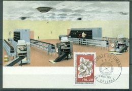 CM-Carte Maximum Card #France-1974 #  Poste # Journée Du Timbre # Centre De Tri Automatique  #  Orleans - Cartes-Maximum