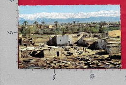 CARTOLINA VG MAROCCO - MARRAKECH - Panorama Vue Des Tanneries - 9 X 14 - ANN. 1966 - Marrakech