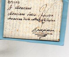 """Bureau Français """"ROME"""",correspondance Du 27/5/1788 Pour PERPIGNAN. - 11. Auslandsämter"""