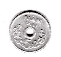 Peu Commune 5 Xu  Gouvernement Révolutionnaire Du Vietnam  Non Datée (1975)   TTB à SUP - Vietnam