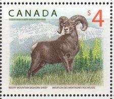 CANADA , 2018, MNH, HIGH VALUE DEFINITIVES, MOUNTAINS, MOUNTAIN BIGHORN SHEEP,1v - Postzegels