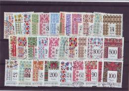 "1994-1999 Hungary - "" Hungaryan Folk Art, Embroidery"" - 31 Pcs - Used Set - Hungary"