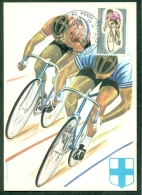 CM-Carte Maximum Card # France-1972 # Sport #Cyclisme,cycling,Radsport # Cycling World Championship   #   Marseille - Maximum Cards