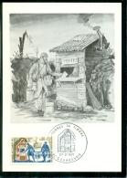 CM-Carte Maximum Card # France-1971 # Journée Du Timbre # La Poste Aux Armées 1014-18 # Courbevoie - Cartes-Maximum