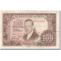 Billet, Espagne, 100 Pesetas, 1953-04-07, KM:145a, TB+ - 100 Pesetas