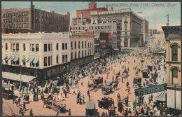 Douglas West From 15th, Omaha, Nebraska, 1913 - Acmegraph Co Postcard - Omaha