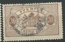 Suede , Service , Yvert N° 9 A Oblitéré  Cw 33503 - Service