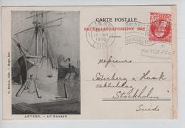 AP2107/ TP 74 GB Perforé P B Paul Borgnet S/CP Expo 1910 C.Liège 18/7/1910 V.Suède - Lochung