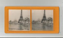 PARIS (75) 24 EXPO 1900 PHOTO STEREOSCOPIQUE LE GLOBE CELESTE ET LA TOUR EIFFEL COLLECTION FELIX POTIN - Stereoscopic