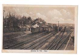 Saint St Vith Sankt Gare Bahnhof Bon état Margraff Timbre Manquant - Saint-Vith - Sankt Vith