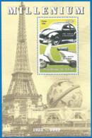 MILLENIUM 1999 Mint Block MNH(**) Car - Fantasy Labels
