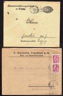DR DEUTSCHES REICH LEIPZIG FRANKFURT 2 NICE COVERS BRIEF 1€ - Cartas