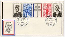 FDC 1971 - Hommage Au Général De Gaulle YT 1698A - 974 St Denis De La Réunion (réf 18-311) - FDC