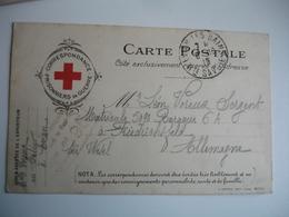 Croix Rouge Correspondance Prisonniers Guerre  Edi Farges Lyon - Poststempel (Briefe)