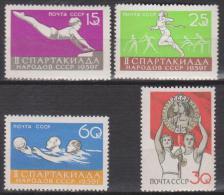 Russie N° 2197 - 2200 *** 2ème Spartakiade Des Peuples Soviétiques - 1959 - 1923-1991 URSS
