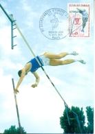 CM-Carte Maximum Card # France-1970 # SPORT # Championnat Euope Athlétisme (saut à La Perche) Paris - Maximum Cards