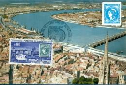 CM-Carte Maximum Card # France-1970 # Sites & Monuments #Tourisme,Architecture # Bordeaux, Pont,Brücke,bridge # Bord - Maximum Cards