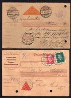 DR DEUTSCHES REICH 2 NICE NACHNAHME 1€ - Chèques & Chèques De Voyage